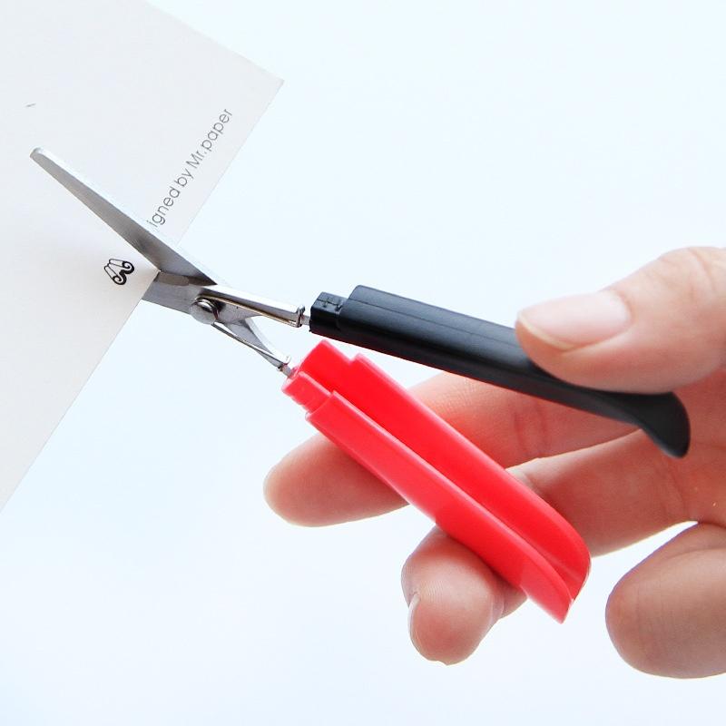 Candy Hidden Creative Pen Design Student Safe Scissors Paper Cutting Art Office School Supply With Cap Kids Stationery Diy Tool Scissors