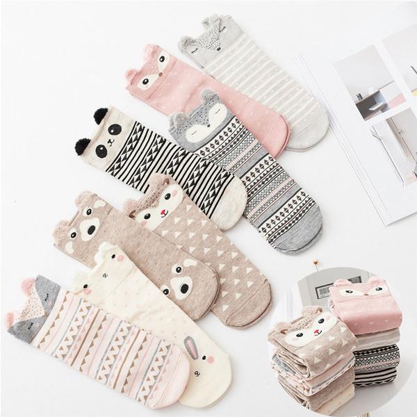 871ef3494452 3D Lovely Animal Cotton Socks Winter Warm Women Panda Bear Pig Fox Cartoon  Socks Cute Cartoon Sock | Wish
