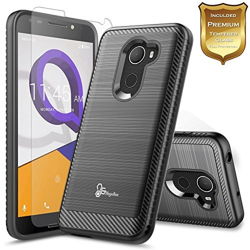 new arrival f82bb 02235 T-Mobile REVVL Case with [Tempered Glass Screen Protector], Alcatel A30  Fierce Case(MetroPCS) / Alcatel A30 Plus Case / Alcatel Walters, NageBee ...