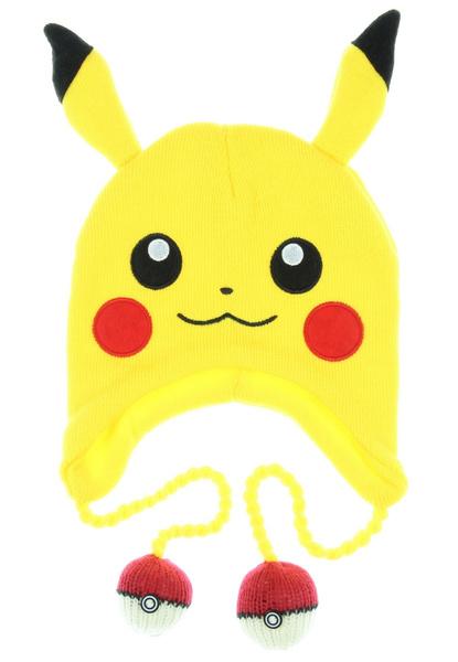 Pokemon Pikachu Big Face Laplander Beanie Size ONE Size