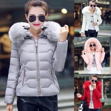 furcollarcoat, Plus Size, Winter, Coat