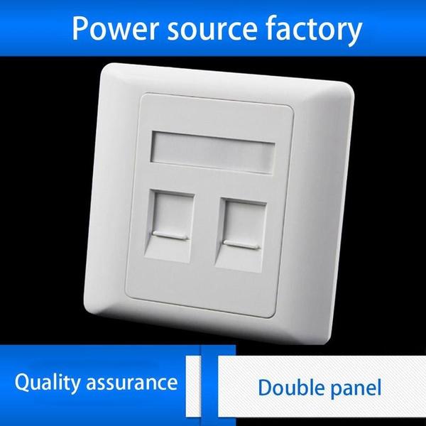 1 Port RJ45 Cat5e Face Plate Wall Socket Ethernet Single Gang FacePlate  !