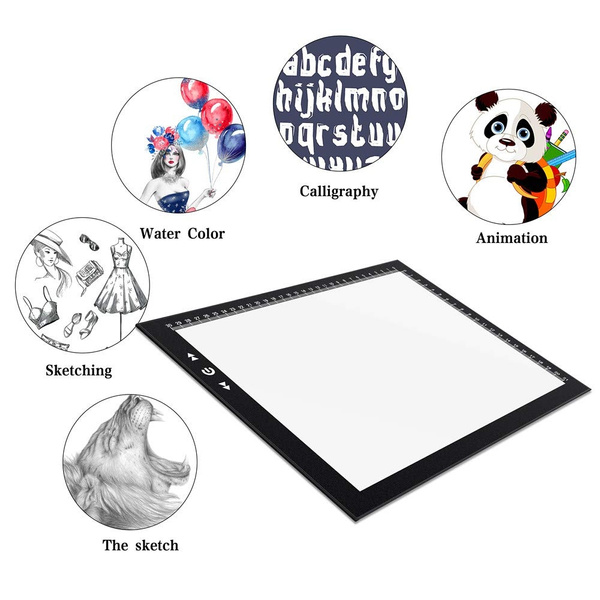A4 Led Light Box Light Pad New Improved Structure Touch Dimmer 8W Super Bright Max 4500 Lux with Free Carry//Storage Bag 2 Years Warranty A4 Light Pad