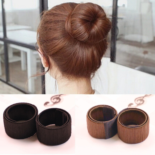 Hair Bun Maker French Dish Made Synthetic Wig Donuts Bud Hair Band Ball French Twist Chignon Bun Maker Headband Hair Accessories