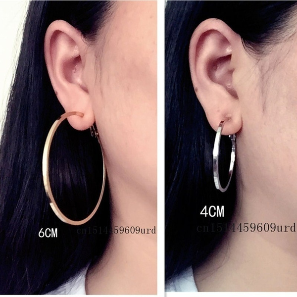 Clip On Ear Without Piercing No Hole Earrings For Women Square Alloy Circle Female Roes Gold Silver Fashion Jewelry Brand