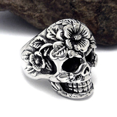 Goth, hip hop jewelry, Stainless Steel, biker