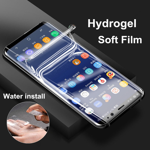 super popular 43071 916bf Mobile Phone Screen Saver For Samsung Galaxy Note 8 iPhone X 8 Plus  Reusable Hydrogel Soft film 3D Full Cover TPU Screen Protector Film Guard  Covers ...