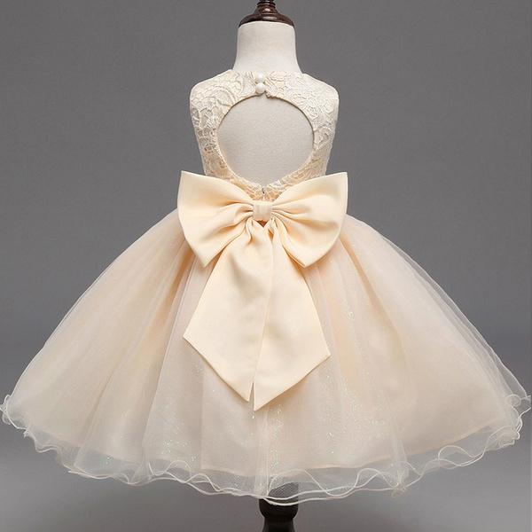 New Girl Skirt Lace Princess Skirt Back Dress Bow Tie Girl Dress