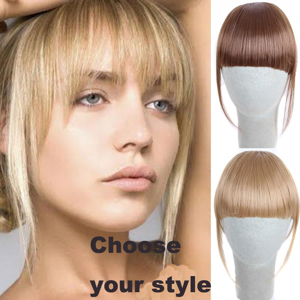 Geek Straight Clip In Front Hair Bang Fringe Hair Extension Clip