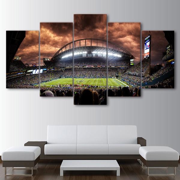 Oil Painting HD Print Wall Decor Art on Canvas Seattle Seahawks Unframed