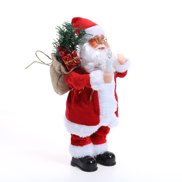 wish dur christmas decorations for home dancing singing santa claus electric christmas toys christmas ornament party decor - Singing Christmas Toys