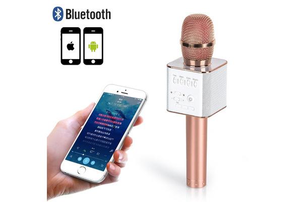 Q9 Wireless Bluetooth Karaoke Microphone Speaker USB Handheld Mic Player KTV 4 Color