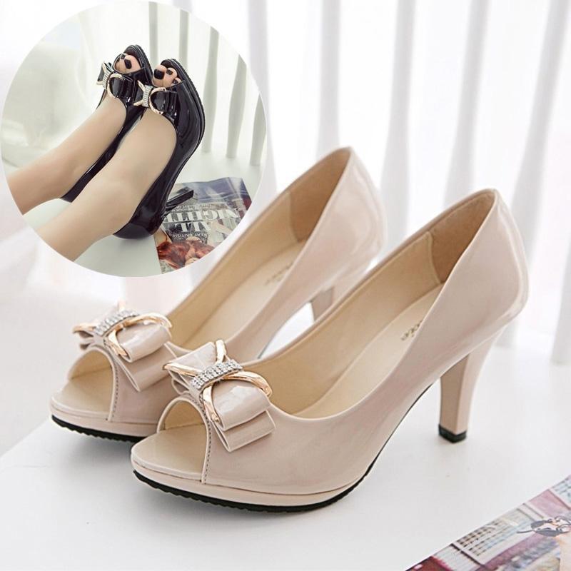475db5c19be6db Fashion Fashion Women High Heel Sandals Fish Mouth Open Toe Bridal ...