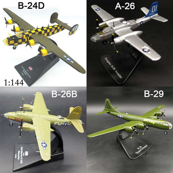 1:144 Scale World War II US Bomber Fighter Aircraft Alloy Model For  Collection Gift Home Office Decoration