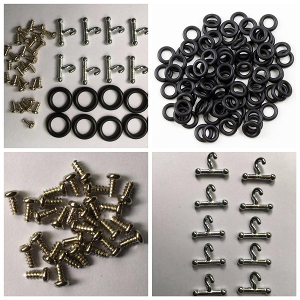 GI Joe 3.75in 3 3//4in O-ring T-Hook Screws 5 piece replacement waistband O-ring