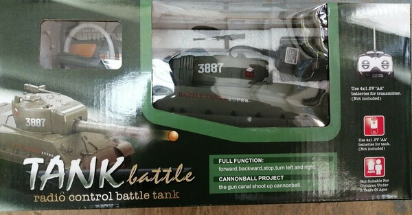 RC TANK RADIO REMOTE CONTROL BB TANK BB BULLETS SHOOTING 1:30 RECHARGEABLE  BATTERIES