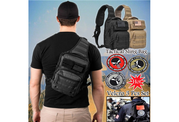 443a1957188 Wish   Tactical Sling Bag Pack Military Rover Shoulder Sling Backpack Molle  Assault Range Bag Everyday Carry Diaper Bag Day Pack Small