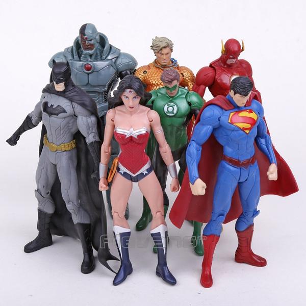7 Pcs//Set DC Comics Batman Joker The Flash Catwoman PVC Action Figures Model Toy