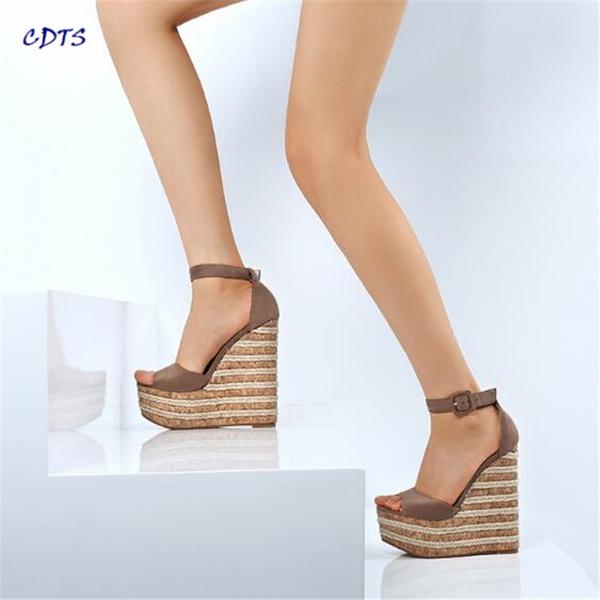 f668862335e crossdresser stiletto 15cm wedges sandals fashion velvet open toe ...