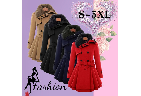 Autumn Parkas Winter Jacket Women Woolen Coats Female Outerwear Casual Long Down Cotton Wadded Lady Woman Fashion Warm ( Plus Size : S- 5XL / Black, Gray, Red, Navy,Camel)