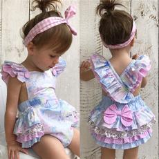 Summer, Floral print, toddlerinfantsbodysuit, babygirlclothe