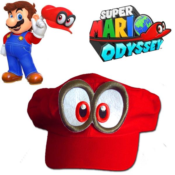 Super Bros Hat Baseball Cap Unisex Cosplay Hat Red
