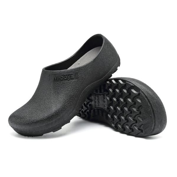 Slip Resistant Shoes for Women Men Black Non Slip Kitchen Work Shoes for Nurse Chef