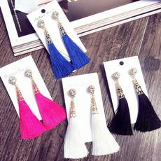 longtasselearring, Tassels, Dangle Earring, Jewelry