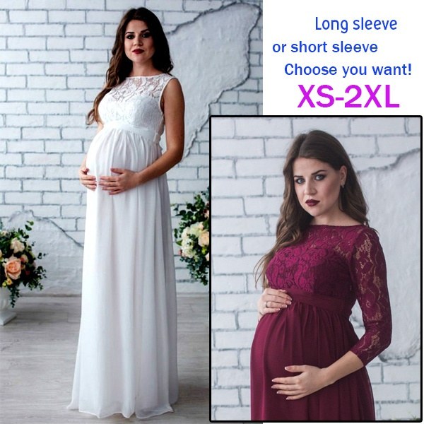 5571240992b Maternity Dress Pregnancy Clothes Pregnant Women Lady Elegant ...