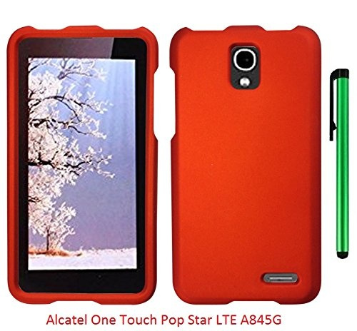 the latest 87f75 32d9c Alcatel One Touch Pop Star LTE A845G (Straight Talk) Phone Case - Premium  Pretty Design Protector Hard Snap-On Cover Case + 1 of New Metal Stylus ...