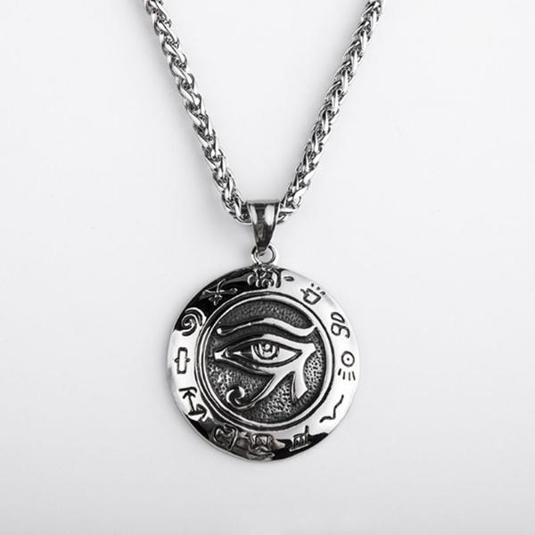 Antique, mensfashionpendantnecklace, eye, Jewelry
