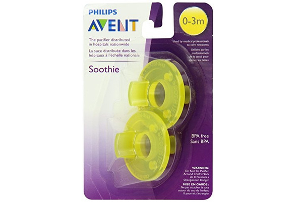 Philips Avent 0-3 Month Soothie Pacifier 2-Pack BPA FREE Hospital Grade Silicone