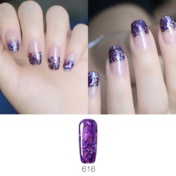 Wish   Ellwings 20 Colors Optional Shining Diamond Nail Gel Long ...