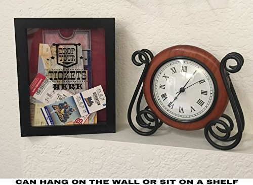 Wish   Ticket Shadow Box - Memento Frame - Large Slot on Top of ...