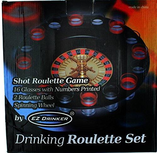 16-Piece EZ DRINKER Shot Spinning Roulette Game Set