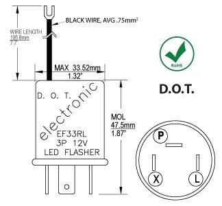 wish cec industries ef33rl turn signal flasher relay led rh wish com