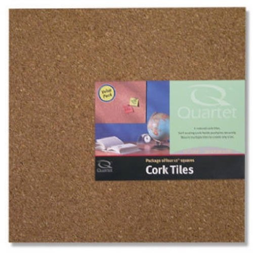 """10 Quartet Cork Tiles Cork Board Mini Wall Bulletin Board 12/"""" x 12/"""" 8 Pack"""