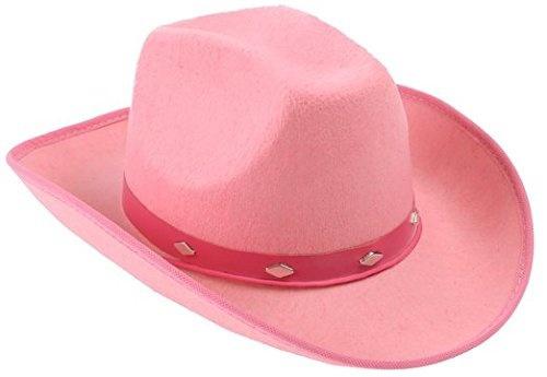 40801fc1 Kangaroo Pink Studded Felt Cowboy Hat, Pink Cowgirl Hat   Home