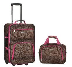 pink, Set, Luggage, Leopard