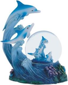 globe, dolphin, Snow, collection