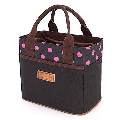 Muitifunction Bento Lunch Canvas Bag for Travel Picnic Lunch Tote Bag with Rope Fashion Belt blue