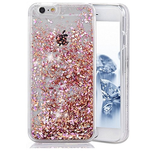 pretty nice 531f7 7de04 iPhone SE Case, SUPVIN Liquid Case for iPhone SE, iPhone 5S, Fashion  Creative Design Flowing Liquid Floating Luxury Bling Glitter Sparkle  Diamond Hard ...