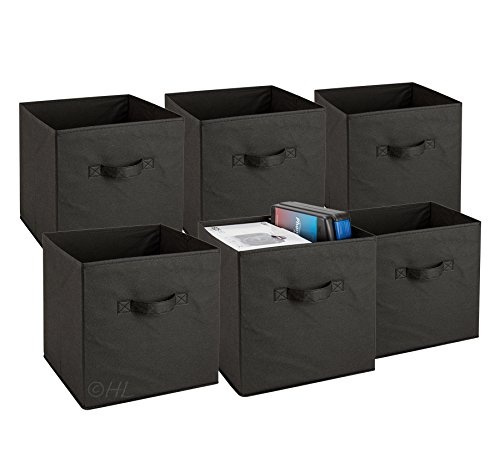 Wish Foldable Cube Storage Bins 6 Pack These Decorative Fabric Cubes Are Collapsible And Great Organizer For Shelf Closet Or Underbed
