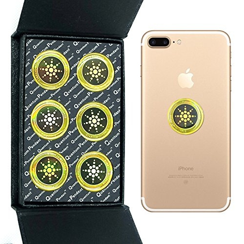 EMF Radiation Shield EMF Neutralizer Sticker For Mobile Phones Phone, iPad  and Laptop - EMR Protection Blocker(Gold 6pcs)