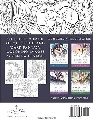 Gothic Dark Fantasy Coloring Book Fantasy Art Coloring By Selina Volume 6