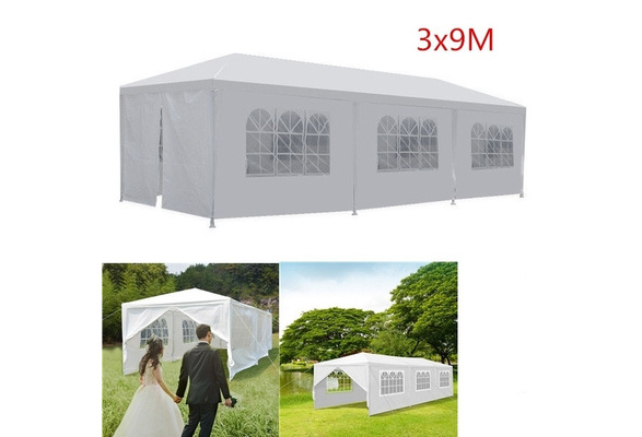 10' x 30' Canopy Party Event Wedding Outdoor Tent Gazebo w/ (8) Removable Side-Wall, White