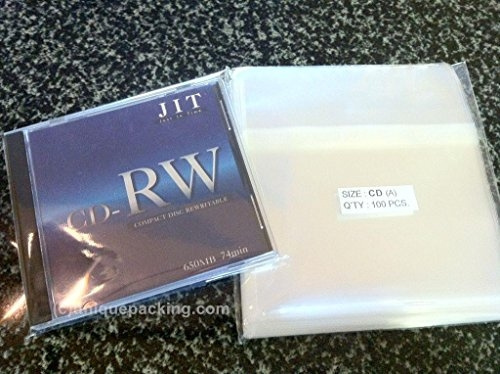 100 Pcs Standard CD Jewel Case Cello//Cellophane Bags by UNIQUEPACKING