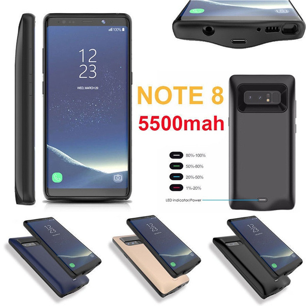 new arrival c9f65 37db0 Galaxy Note 8 Battery Case, ALCLAP 5500mAh External Battery Portable  Charger Charging Case for Samsung Galaxy Note 8(6.3 inch)Extended Battery  Juice ...