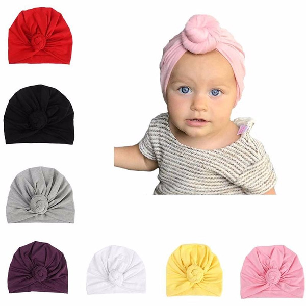 1PC Soft Comfortable Adorable Infant Turban Baby Turban Headbands for Girls Baby