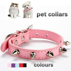 Dog Collar, catcollar, leather, pinkcolour